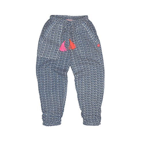 - Mim-Pi Little Girls Blue and Neon Pom Pom Dotted Pants Blue (7)