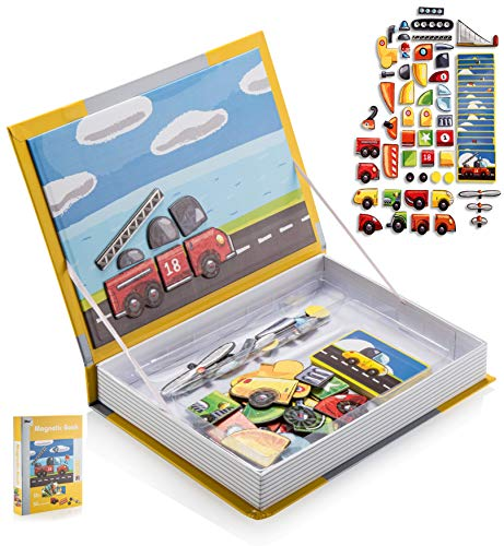 - Amazing Magnetic Puzzle Book, Best Transportation Themed Jigsaw for Kids, Educational and Creative Toy for Toddlers, Set of 50 Mix & Match Dress up Accessories for Boys and Girls, Ages 3+