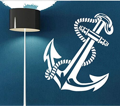 Ancient Anchor Retro Vintage Tattoo Ships Wall Decal Stickers Livingroom Decorative Art Decal Vinyl Mural White Color