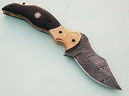 Handgefertigt 18cm Awesome Klapp Tasche Messer Made mit echten Damaskus Stahl mit G10Material Griff und Gravur Kropf: (bdm-70) (Legal zu tragen) DyilC3Tm