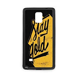 Nuktoe Funny Design Samsung Galaxy Note 4 Case Stay Gold For Girls Protective, Case For Samsung Galaxy Note 4, [Black]