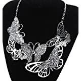 298# - 1 New Arrival Women Jewelry Pendant Choker Chunky Statement Chain Bib Necklace