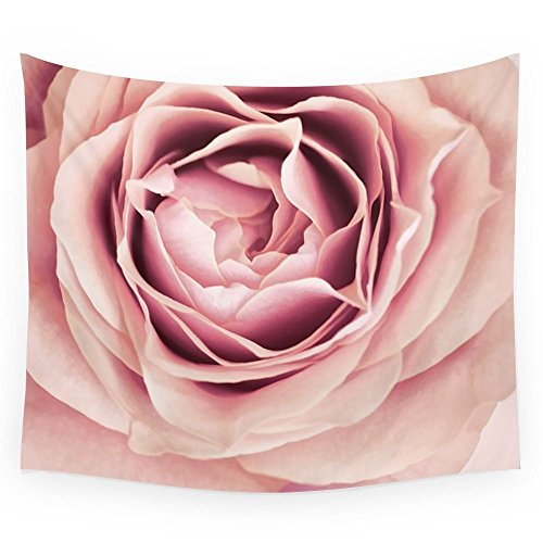 Society6 My Heart Is Safe With You, My Friend - Pale Pink Rose Macro Wall Tapestry Small: 51