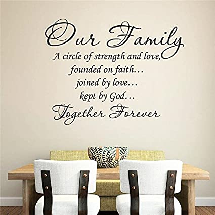 Amazon.com: Aihesui Our Family Together Forever Quotes ...