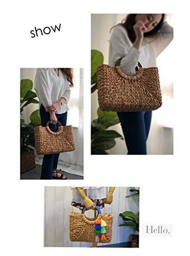 Handmade Straw Womens Trends 2 white Fashion Bag Bag Straw Handbags Women's Handbag HopeEye Shoulder Crossbody xw8pqCYp