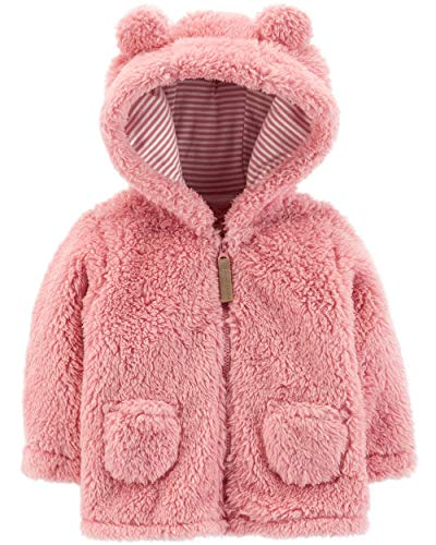 Carter's Baby Girls' 3M-24M Hooded Sherpa Jacket 9 Months, Pink