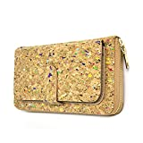 Colorful Natural cork women Wallet Bifold Multi Card Case wallet Clutch Long vegan