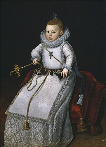 'Moran Santiago La Infanta Margarita Francisca Hija De Felipe III Ca. 1610 ' Oil Painting, 12 X 17 Inch / 30 X 42 Cm ,printed On High Quality Polyster Canvas ,this High Resolution Art Decorative Canvas Prints Is Perfectly Suitalbe For Gym Decoration And Home Gallery Art And Gifts