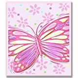 The Kids Room by Stupell Pink Butterfly Rectangle Wall Plaque
