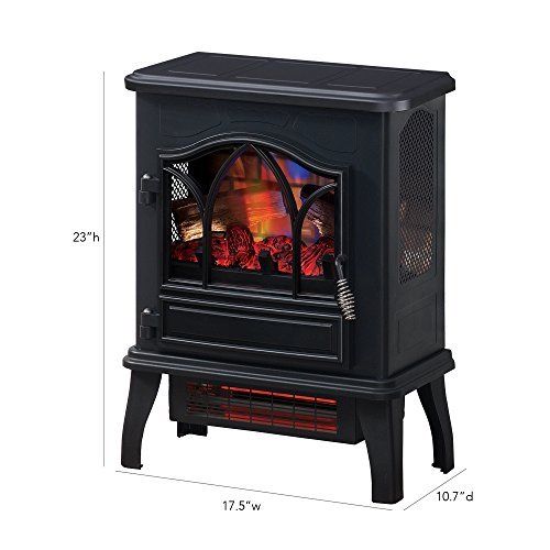 Duraflame DFI-470-04 Infrared Quartz Fireplace Stove, Black by Duraflame Electric (Image #4)