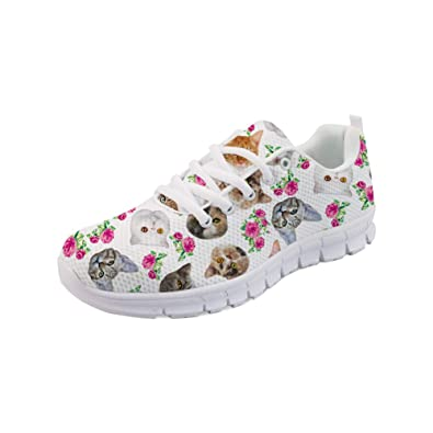 1a3eaaf31c6df Amazon.com | Bigcardesigns Casual Lace-ups Tennis Shoes Go Easy ...