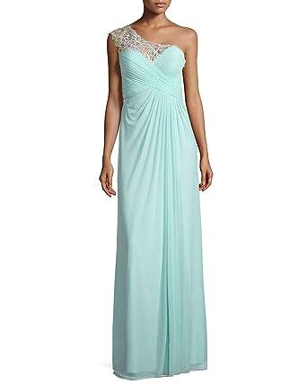 La Mariee One-Shoulder Lace Appliques Evening Formal Prom Dresses Chiffon Long-2-