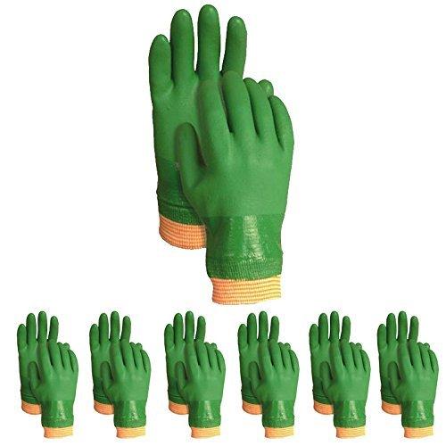 Atlas ATL600L Vinylove 600 Dipped PVC Large L Green Work Gloves, 12-Pairs by Atlas Glove