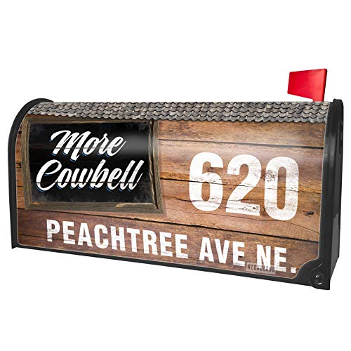 NEONBLOND Custom Mailbox Cover Classic Design More Cowbell]()