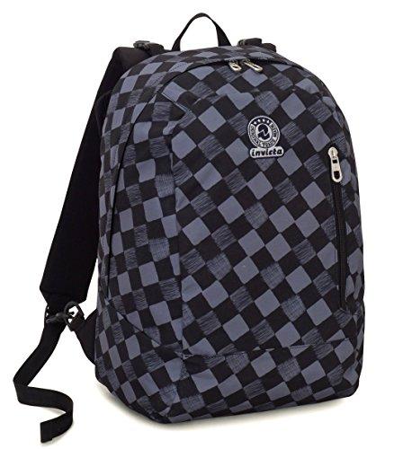 Patrón Multicolor Color Mochila nero Origami 26 Azul 2en1 Lt Sólido Invicta Giro Geométrico Reversible xqRwHAzxv