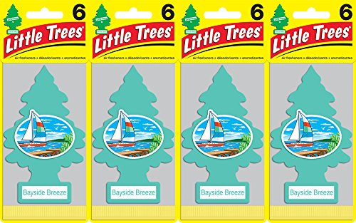 Little Trees Bayside Breeze Air Freshener, (Pack of 24) (Air Breeze)