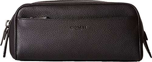 COACH Men's Dopp Kit in Pebbled Leather Black One Size