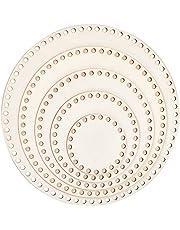 "PH PandaHall 5 Sizes Natural Wooden Basket Bottom Round Circle Blank Crochet Basket Wood Base for DIY Basket Weaving Crochet Supplies, Burlywood, 10/15/20/25/30cm(3.9/5.9/7.9/9.9/11.9"") in Diameter"