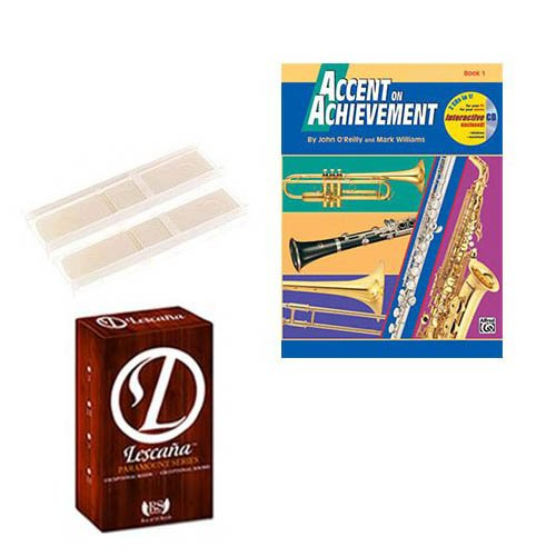 Accent on achievement Book 1 (Alto Saxophone) Deluxe with Lescana Paramount Series Alto Saxophone Reeds 2 PACK (Size 3.5)