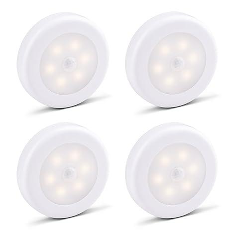 samoleus 2 Stk LED Luz nocturna con movimiento activado Luz, movimiento Sensor de luz batteriebetriebene
