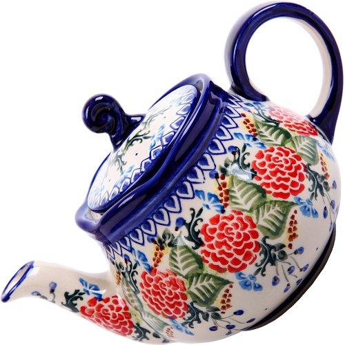 Polish Pottery Ceramika Boleslawiec 0105/280 Teapot Fruti, 3-1/4-Cup