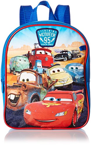 (Disney Boys' Cars Mini Backpack with Utility Case, Blue)