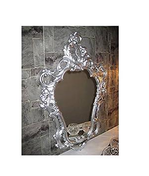 Barockspiegel Wandspiegel ANTIK BAROCK Repro Schwarz Weiß Dualcolor 50X76 cm NEU