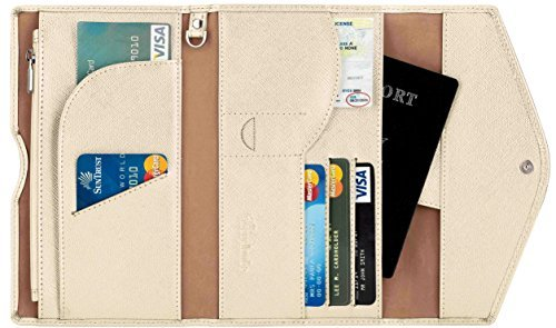 Travelambo Rfid Blocking Passport Holder Wallet & Travel Wallet Envelope Various Colors