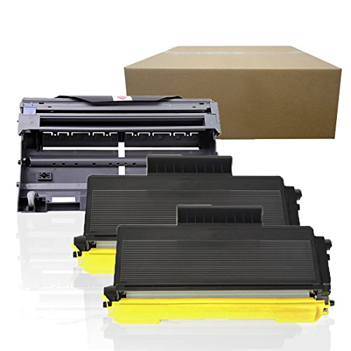 Inktoneram Compatible Toner Cartridges & Drum Replacement for Brother TN650 TN620 DR620 DR-620 TN-650 TN-620 MFC-8480DN MFC-8890DW DCP-8080DN DCP-8085DN HL-5340D HL-5370DW HL-5370DWT (Drum,2-Toner,3PK