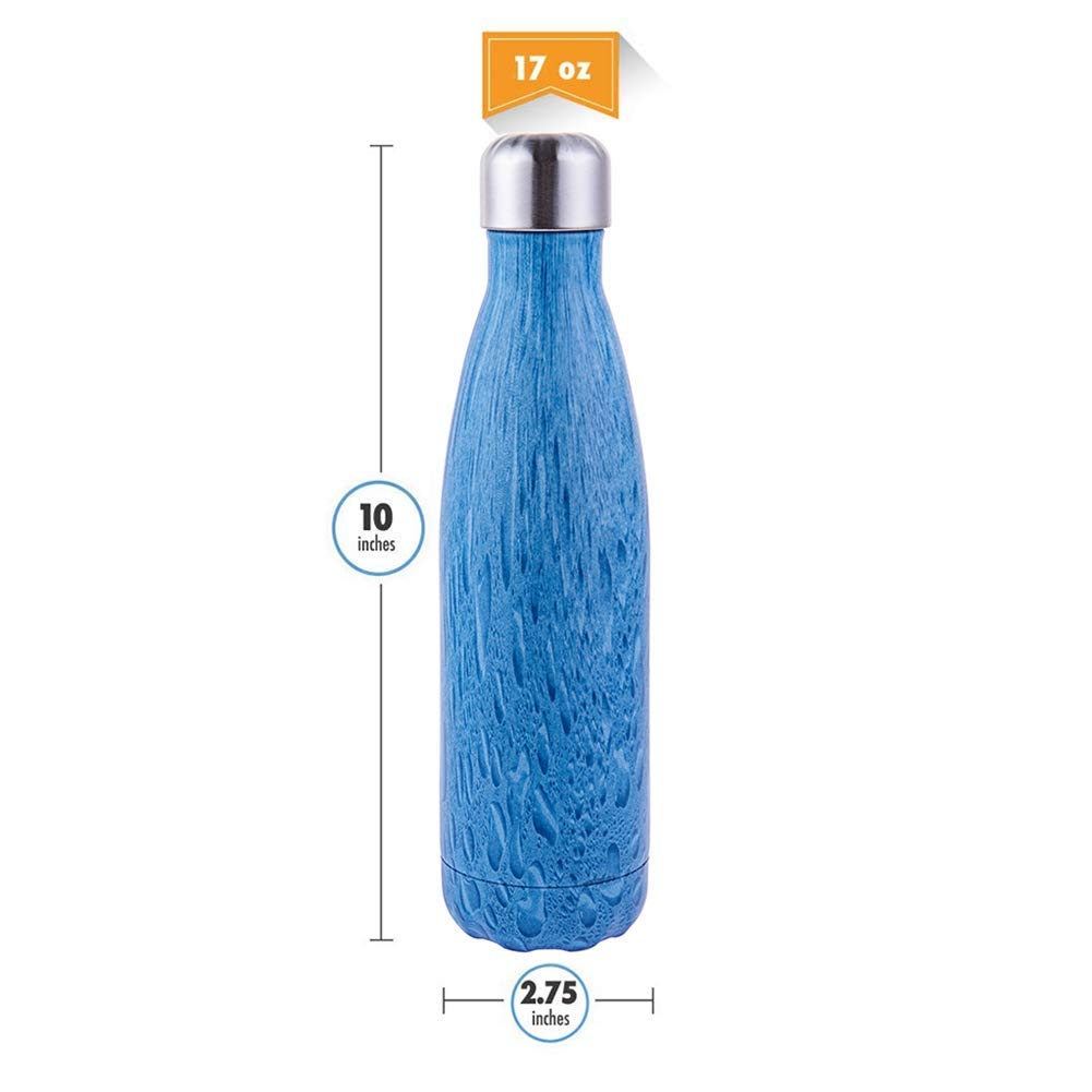 Jiangeshuh 17 Unze vakuumisolierte wasserflasche 500 ml doppelwandige Edelstahl-Flasche auslaufsicher hot /& Cold Sport getr/änke Flasche f/ür Camping Radfahren