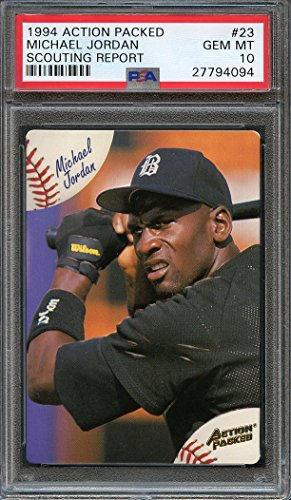 - 1994 action packed scouting report #23 MICHAEL JORDAN baseball rookie PSA 10 Graded Card
