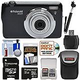 Polaroid iEX29 18MP 10x Digital Camera (Black) with 32GB Card + Case + Selfie Stick + Kit