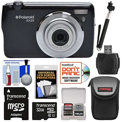 Polaroid iEX29 18MP 10x Digital Camera  with 32GB Card + Cas