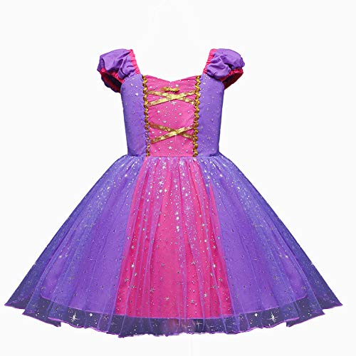 HILEELANG Toddler Princess Girl Halloween Costume Dress up Tales Cosplay Party Dresses 1-5