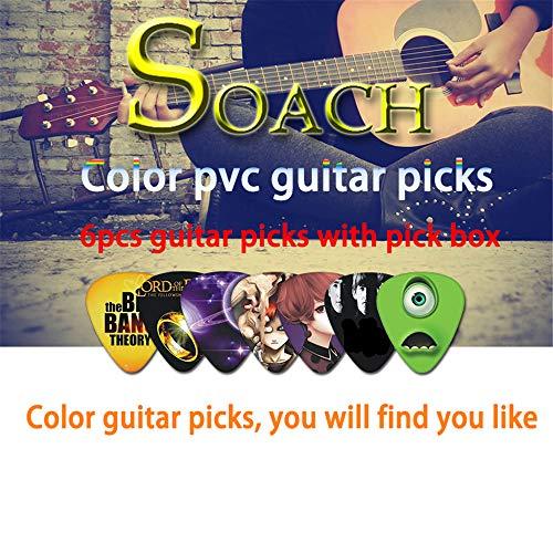 6 Colors Guitar Picks Musical Instruments Pick SOACH NEW Super Value Tool Kit Guitar Tuner Key Ring Plectrum Holder Capo