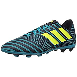 adidas Originals Boys' Nemeziz 17.4 FxG J Soccer Shoe, Legend Ink/Solar Yellow/Energy Blue, 1.5 Medium US Little Kid