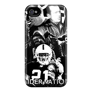Iphone 4/4s HqS9277UHjr Customized Colorful Oakland Raiders Skin Durable Hard Phone Cases -DannyLCHEUNG