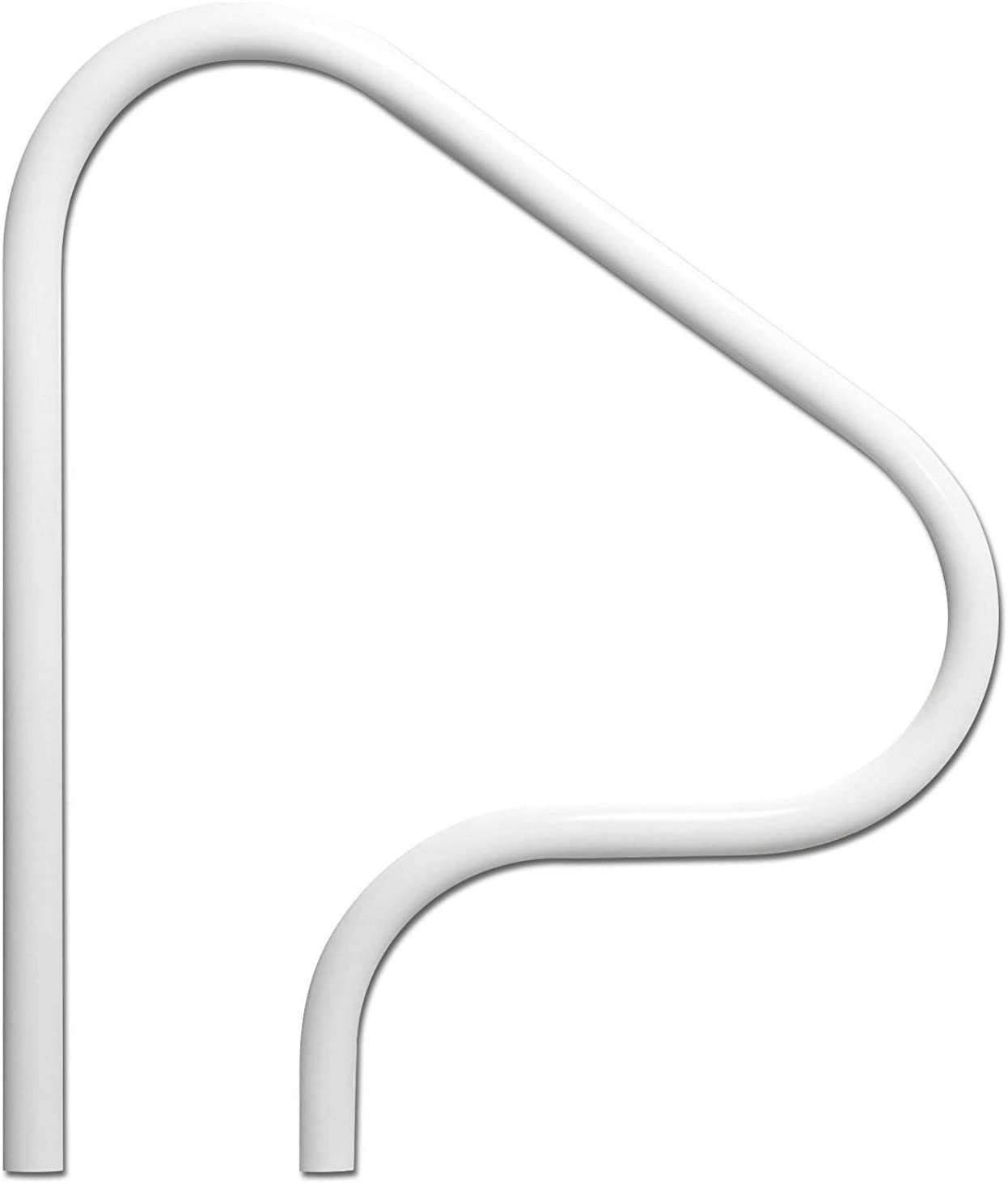 SAFTRON P-326-RTD-W 3 Bend Return to Deck Polymer Swimming Pool Handrail, White