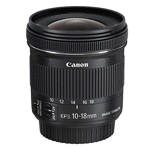 Canon EF-S10-18 mm f/4.5-5.6 IS STM Lens – Black