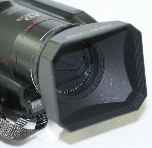 - Professional 43mm Digital Video Hard Lens Hood With Cap For Panasonic TM300 TM20 HS300 HS250 Canon HV10 HV20 HV30 HV40 Camcorders