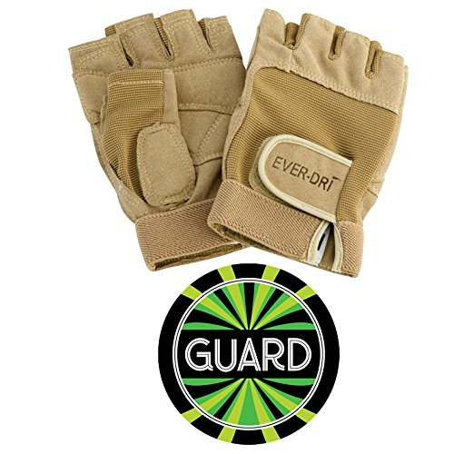 EVER-DRI Performance Gloves and Color Guard Decal Bundle (Tan, SMALL)