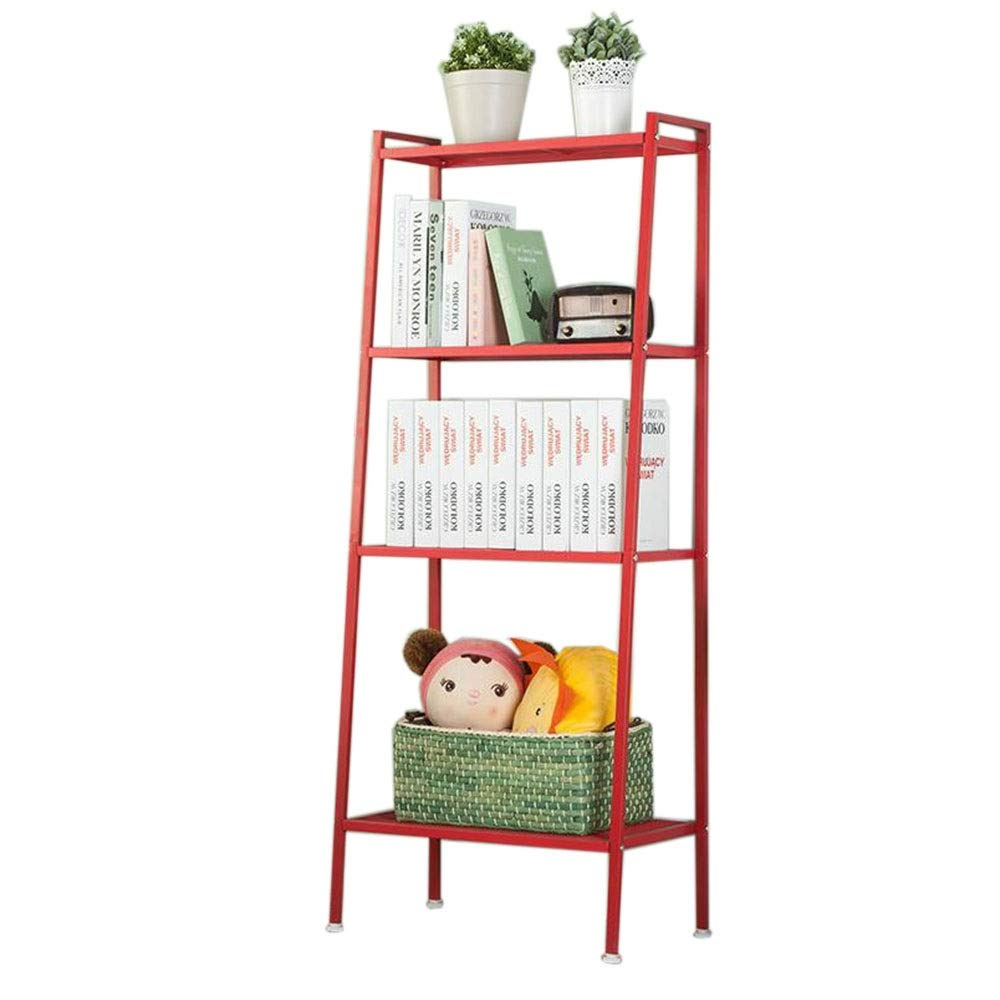 Red 23.6213.7757.87in JCAFA Shelves Bookshelf Trapezoidal Design Corner Square Rack Industrial Ladder Shelving , 4 Layers, Width 60cm (color   Brown, Size   23.62  13.77  57.87in)