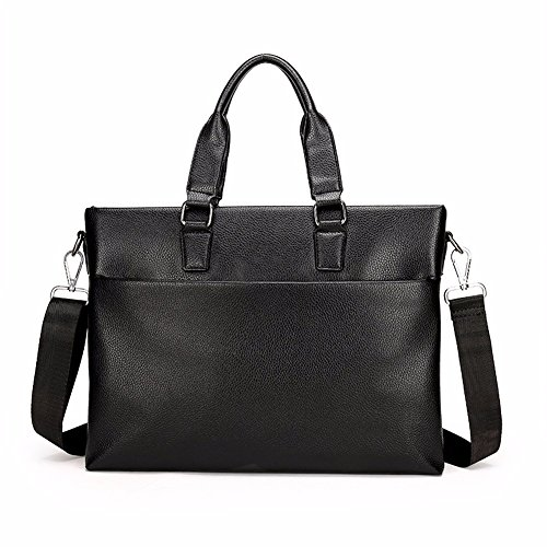 cremallera cuero hombres negocios mano moda Black de los de de de de hombres bolsa bolso cremallera de Khaki Los la bolso Surnoy de negocios wZYtvqt5