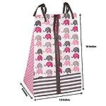 Elephants-PinkGrey-10-pc-Crib-Set-Including-Bumper-Pad
