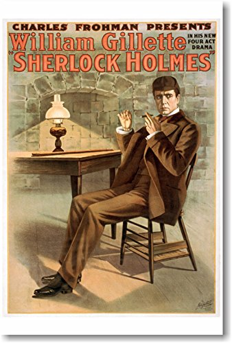 Sherlock Holmes - William Gillette - NEW Vintage Movie Poster