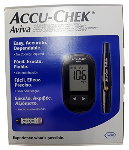 Accu-Chek Aviva Blood Sugar Glucose Monitoring Device No Coding Required (Aviva Monitor)