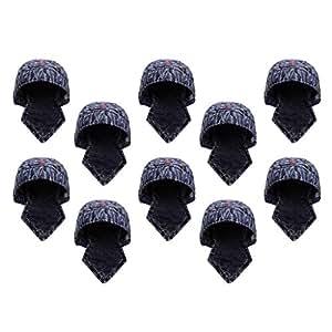 Baoblaze 10pcs Sombrero de Soldador Protectivo Gorro de Algodón Accesorios de Manualidad Coser Reparar Bricolaje: Amazon.es: Jardín