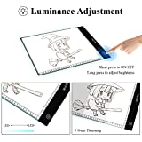 Light Box Tracing, Lifecolor A4 LED Light Pad Dimmable Brightness Artcraft Tracer for Artists Drawing Sketching Animation