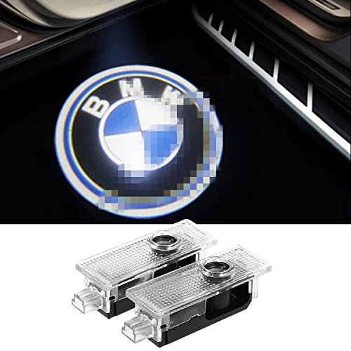 2 Pcs Car Door Bright LED Logo Ghost Shadow Lights Welcome Lights Emblem Courtesy Step Lights for BMW Compatible 3/5/6/7/Z/GT/X Series Replacement Accessories