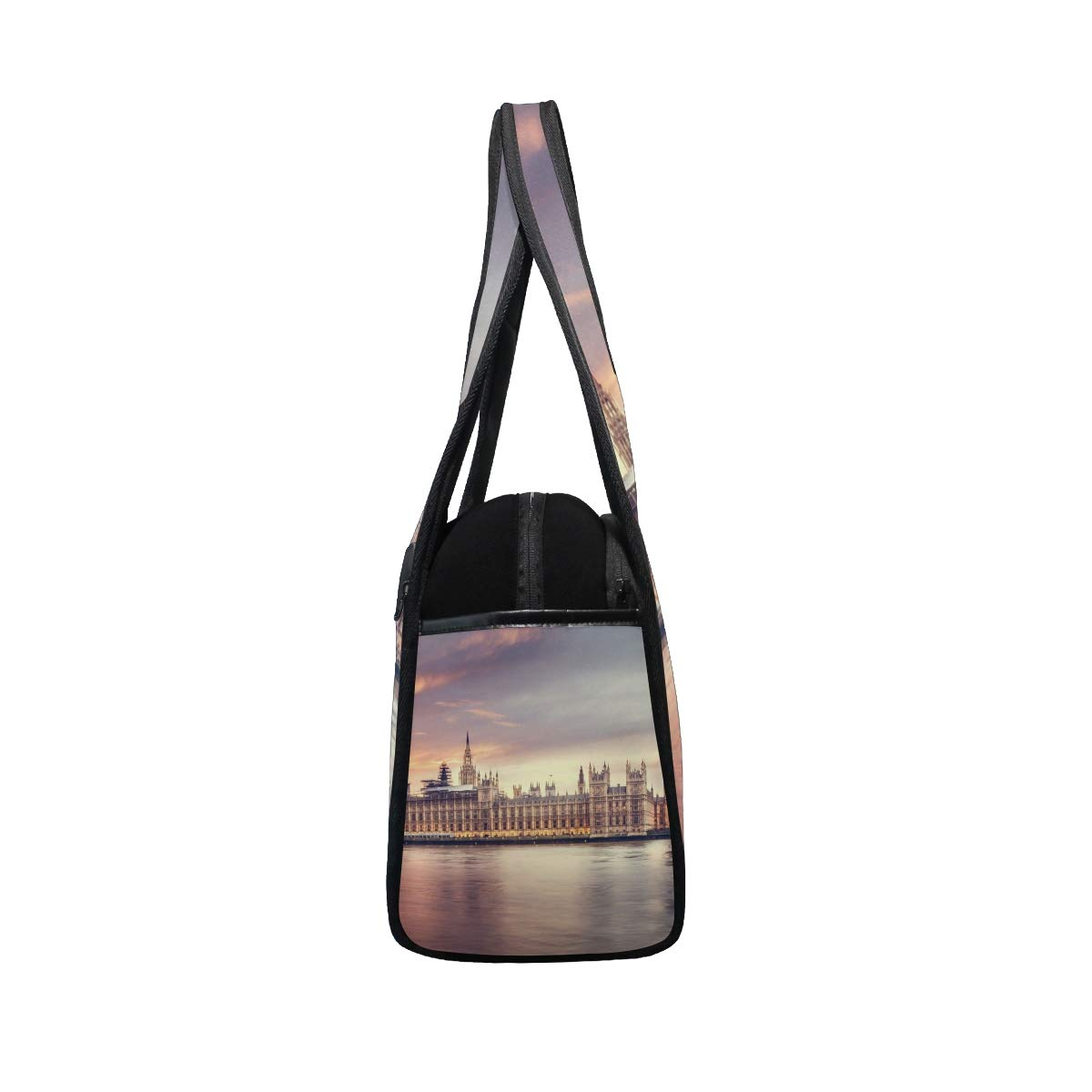 Big Ben City View At London Women Sports Gym Totes Bag Multi-Function Nylon Travel Shoulder Bag